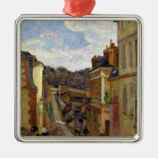 Ornement Carré Argenté Paul Gauguin | une rue suburbaine, 1884
