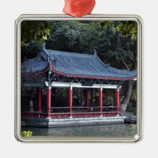 Ornement Carré Argenté Pavillon, lac Ronghu, Guilin, Chine