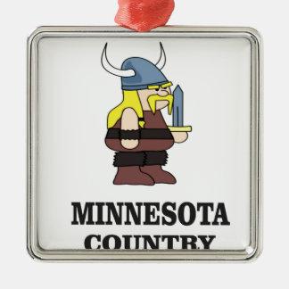 Ornement Carré Argenté Pays du Minnesota