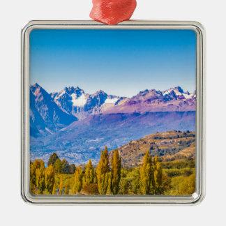 Ornement Carré Argenté Paysage andin de Patagonia, Aysen, Chili