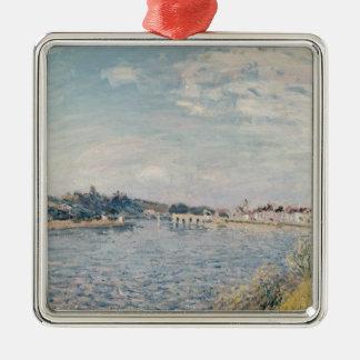 Ornement Carré Argenté Paysage d'Alfred Sisley  