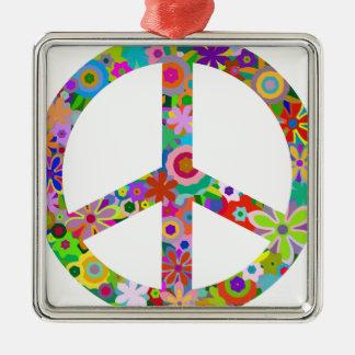 Ornement Carré Argenté peace11