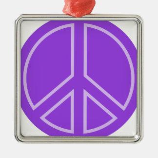 Ornement Carré Argenté peace14