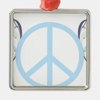 Ornement Carré Argenté peace3