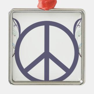Ornement Carré Argenté peace4