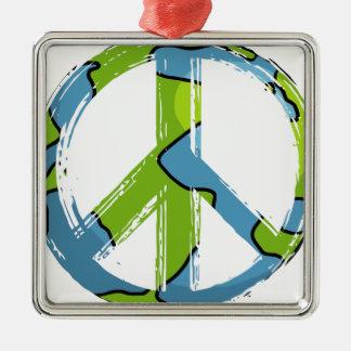 Ornement Carré Argenté peace6