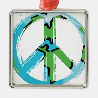 Ornement Carré Argenté peace8