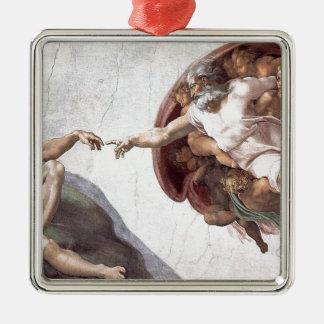Ornement Carré Argenté Peinture originale de Michaël Angelo dans la