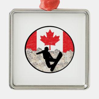 Ornement Carré Argenté Pensionnaires canadiens