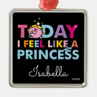 Ornement Carré Argenté Petite Mlle le princesse | que je me sens comme