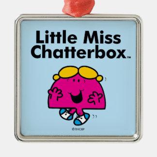 Ornement Carré Argenté Petite petite Mlle Chatterbox de la Mlle | est si