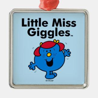 Ornement Carré Argenté Petite petite Mlle Giggles Likes To Laugh de la