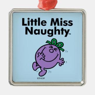 Ornement Carré Argenté Petite petite Mlle Naughty de la Mlle | est si