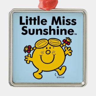 Ornement Carré Argenté Petite petite Mlle Sunshine de la Mlle | est un