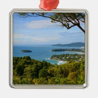 Ornement Carré Argenté Phuket Thaïlande - plage de Kata