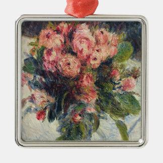 Ornement Carré Argenté Pierre Mousse-Roses de Renoir un |