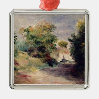Ornement Carré Argenté Pierre un paysage de Renoir | près de Cagnes