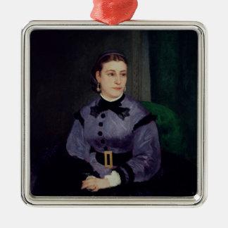 Ornement Carré Argenté Pierre un portrait de Renoir | de Mademoiselle