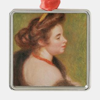 Ornement Carré Argenté Pierre un portrait de Renoir | de Mme. Maurice