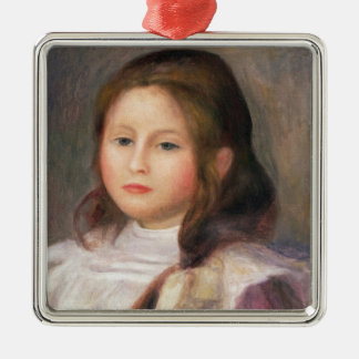 Ornement Carré Argenté Pierre un portrait de Renoir | d'un enfant 2