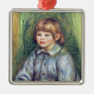 Ornement Carré Argenté Pierre un portrait posé par | de Renoir de Claude