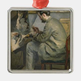 Ornement Carré Argenté Pierre un Renoir | Frederic Bazille à son chevalet
