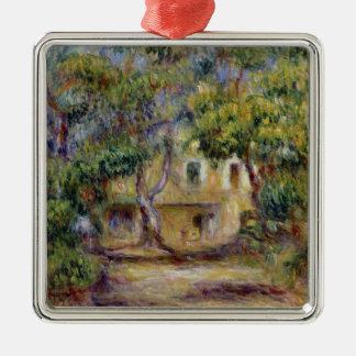 Ornement Carré Argenté Pierre un Renoir | la ferme chez Les Collettes