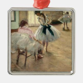Ornement Carré Argenté Pierre un Renoir | la leçon de danse