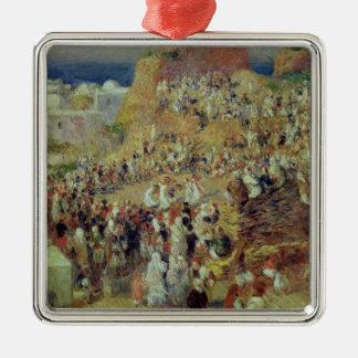 Ornement Carré Argenté Pierre un Renoir | la mosquée, ou festival arabe