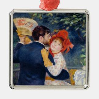 Ornement Carré Argenté Pierre un Renoir | une danse dans le pays