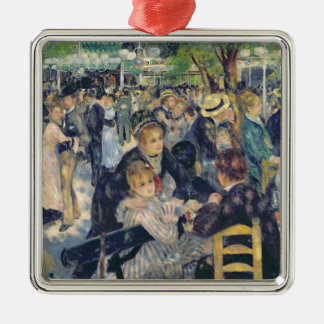Ornement Carré Argenté Pierre une boule de Renoir   chez Moulin de la