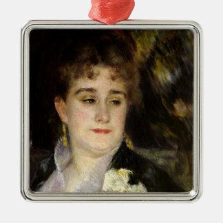 Ornement Carré Argenté Pierre une Madame Georges Charpentier de Renoir |