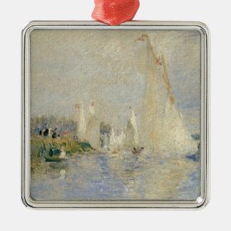 Ornement Carré Argenté Pierre une régate de Renoir | à Argenteuil
