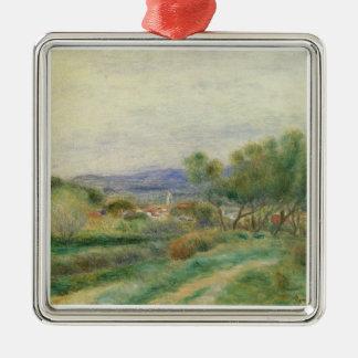 Ornement Carré Argenté Pierre une vue de Renoir | de La Seyne, Provence