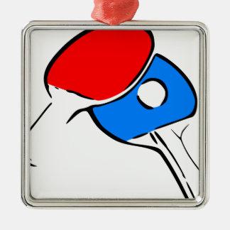 Ornement Carré Argenté Ping-pong