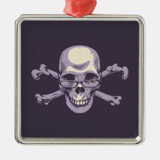 Ornement Carré Argenté Pirate ringard