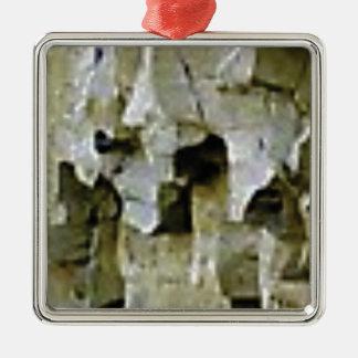 Ornement Carré Argenté plafond blanc approximatif de roche