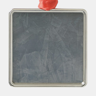 Ornement Carré Argenté Plâtre vénitien de gris d'ardoise