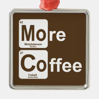 Ornement Carré Argenté Plus de Tableau périodique de café