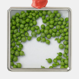 Ornement Carré Argenté Pois mûrs d'un plat