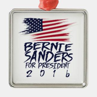 Ornement Carré Argenté Ponceuses de Bernie pour le président 2016