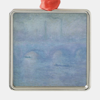 Ornement Carré Argenté Pont de Claude Monet | Waterloo : Effet de la