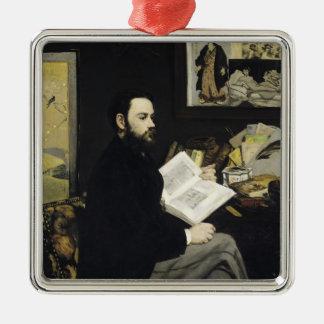 Ornement Carré Argenté Portrait de Manet | d'Emile Zola 1868