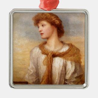 Ornement Carré Argenté Portrait de Mlle Lillian Macintosh