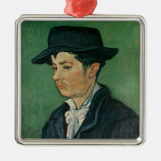 Ornement Carré Argenté Portrait de Vincent van Gogh | d'Armand Roulin,