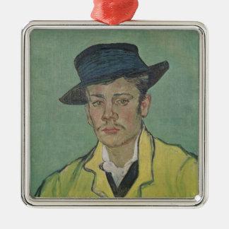 Ornement Carré Argenté Portrait de Vincent van Gogh   d'Armand Roulin,