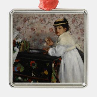 Ornement Carré Argenté Portrait d'Edgar Degas | de Mlle. Hortense