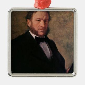 Ornement Carré Argenté Portrait d'Edgar Degas   de Monsieur Ruelle, 1861