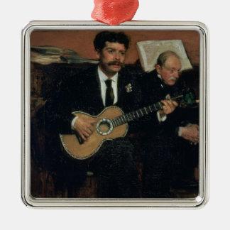 Ornement Carré Argenté Portrait d'Edgar Degas | des païens de Lorenzo