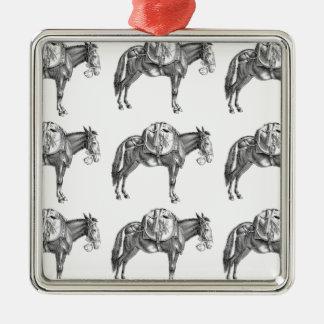 Ornement Carré Argenté prière de mule de paquet